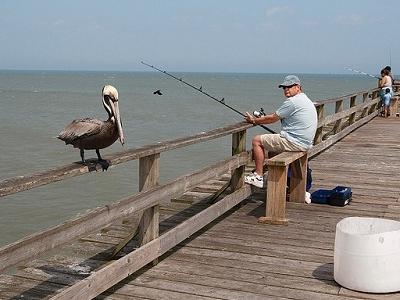 Fishing Over Kure Beach Fishing Pier NC