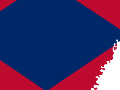 Flag  Map Of  Arkansas