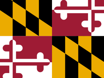 Flag  Map Of  Maryland