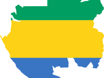 Flag  Map Of  Gabon