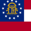 Flag Map Of Georgia 2 8 U . S . State 2 9