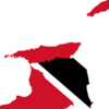 Flag Map Of Trinidad And Tobago