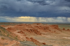 Flaming Cliffs In Mongolia Gobi Desert