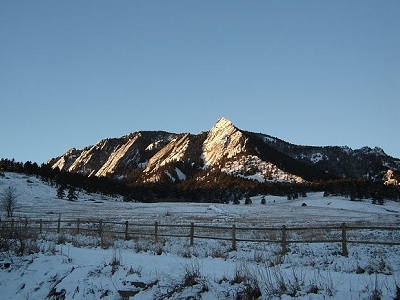 Flatirons Near Boulder - CO