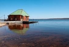 Floating Sauna Over Lake Seliger