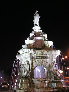 Night-Lit Flora Fountain