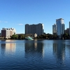 FL Orlando - Lake Eola - Buildings Across Lake