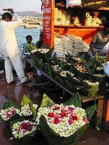 Flower Boat At Har Ki Pauri