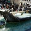 Fontana Della Barcaccia With Tourists