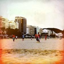 Football At Copacabana Beach In Rio De Janeiro
