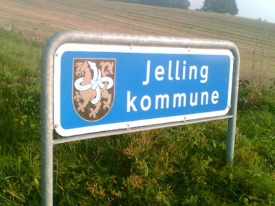 Former Sign Of Jelling Municipality