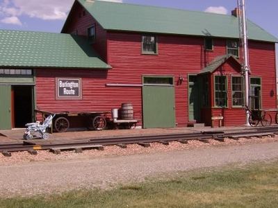 Former Train Depot Originally From Lodge Grass Now A Museum In H