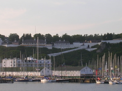 Fort  Mackinac From Water
