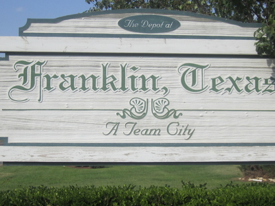 Franklin, Texas Sign