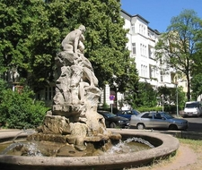 Friedenau: Deluge-Fountain At Perelsplatz