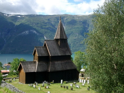 Front Of Urnes Stave Church