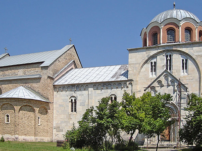Front View Of Monastery