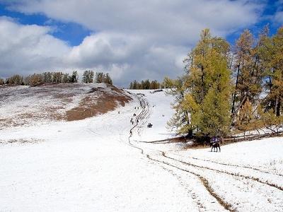 Frozen Kanas Lake