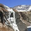 Frozen Waterfall Inside Sangre De Cristo Mountains CO