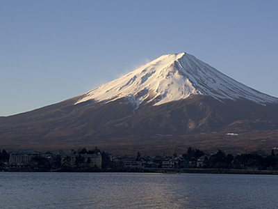 Mt. Fuji As Seen Across Kawaguchiko