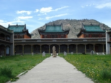 Full View Of Ancient Tsetserleg Buddhist Monastery