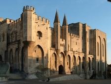The Façade Of The Palais Des Papes