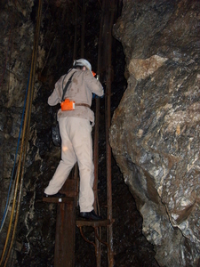 Miner Exiting The Samson Pit