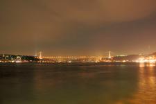 Fatih Sultan Mehmet Bridge At Night