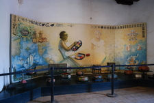 Exhibit At Entrance Of The Museo De La Laca