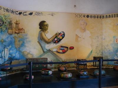 Exhibit At Entrance Of The Museo De La Laca