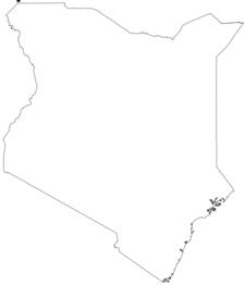 Flag Map Of Kenya