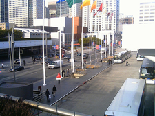 Outside Moscone Center