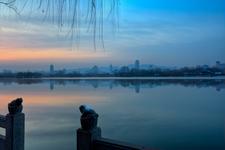 Daming Lake At Sunrise