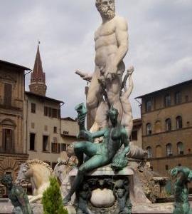 Fountain Of Neptune At The Piazza Della Signoria