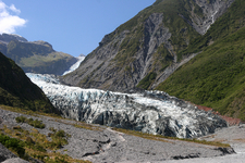 View Of The Glacier From The Valley