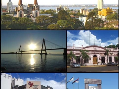 From Top To Bottom From Left To Right Panoramic View Of The City San Roque Bridge Misiones Government House Posadas Plaza Shopping And Monument To Malvinas.