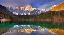 Mangart From The Fusine Lakes