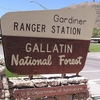 Gallatin NF Gardiner Ranger Station Plaque MT