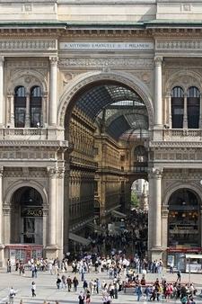 Galleria Vittorio Emanuele II: Triumphal Arch Motif