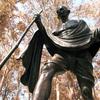 Gandhi, Praça Túlio Fontoura Sculpture