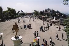 Gandhi Statue In Shimla Town HP