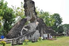 Gargantuan Reclining Buddha In Buddha Park