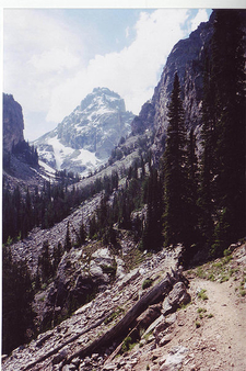 Garnet Canyon Trail Views- Grand Tetons - Wyoming - USA