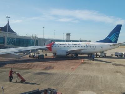 Garuda Indonesia In Minangkabau International Airport