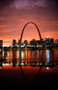 Gateway Arch Night Skyline