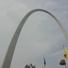 Gateway Arch With Flag