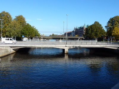 River Gavleån With Two If Its Bridges