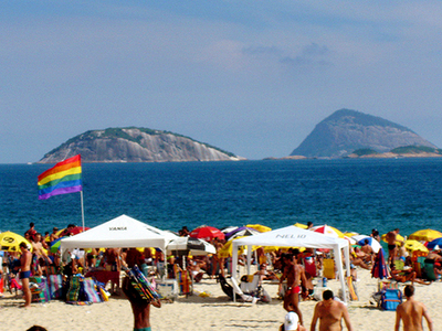 LGBT Part Of The Beach.