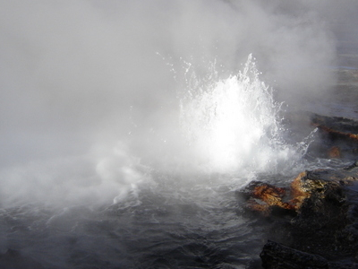 El Tatio, Close Up Of A Geyser