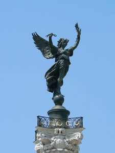 Statue On Top Of The Column